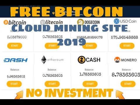 New Free Bitcoin Cloud Mining Site 2019 | Daily 50$ And 1000 GHs Sign Up Bouns.