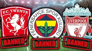 Top 10 BANNED Football Teams!
