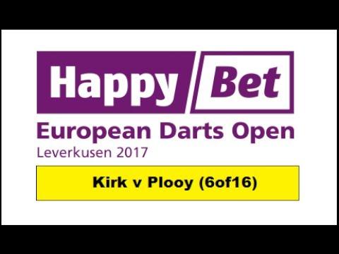 Round 1 [6of16]:Aden Kirk v Michael Plooy & Interview - European Darts Open 2017 HD