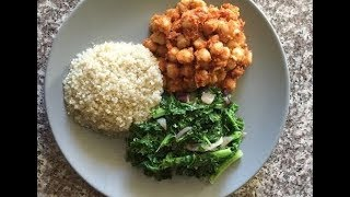 Simple Vegan / Alkaline Recipe with High Protein. Chickpeas and Quinoa!!!