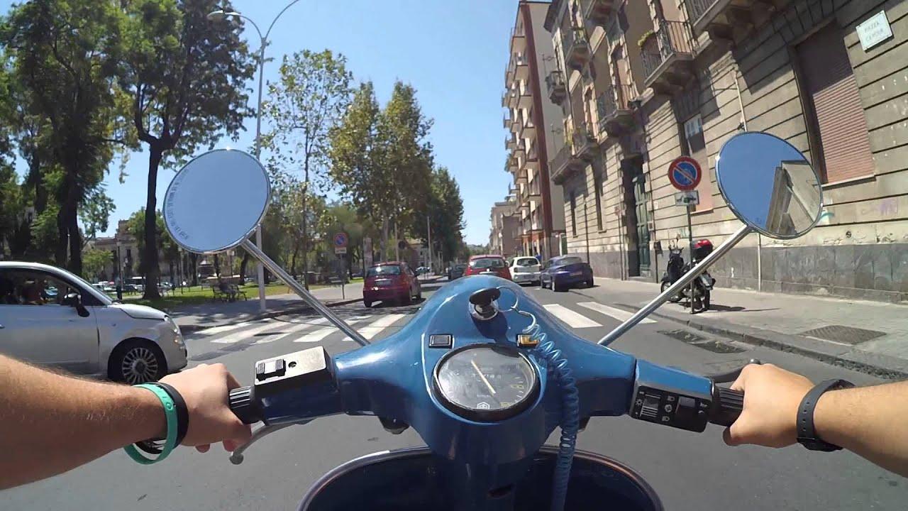 xiaomi yi camera test ride vespa p125x catania