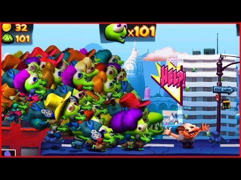 100 ЗОМБИ ЦУНАМИ ВЗЛОМ. игра как Растение против зомби.Hack Zombie Tsunami Start With 100 Zombies