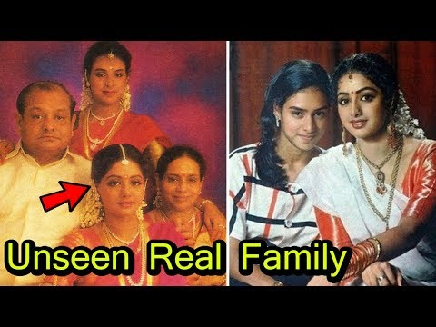 Actress Sridevi with Sister,Mother,Father Full Family unseen Photos