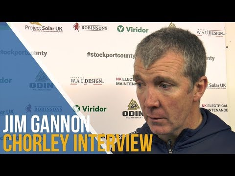 Jim Gannon Post-Match Interview - Chorley FC
