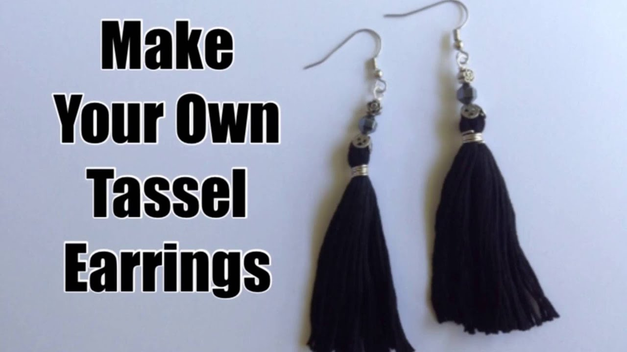Create Easy Tassel Earrings or Pendants with Embroidery Thread ...