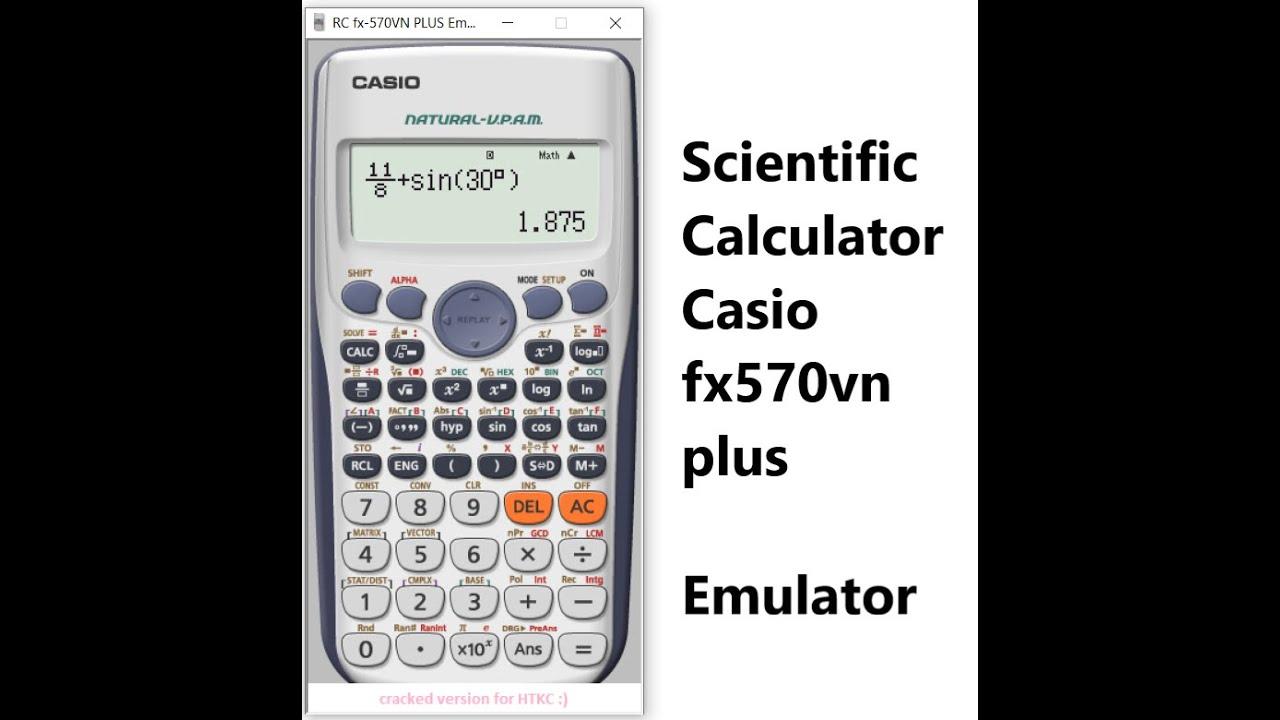 Scientific Calculator Casio Fx570vn Plus Emulator Youtube
