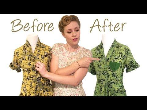 1940's Vintage Dress Restoration – DIY Style