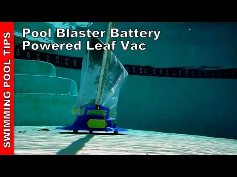 Pool Blaster Battery Powered Leaf Vac by Water Tech - Review & Demo
