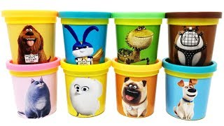 Play-Doh The Secret Life of Pets 2 Toys Mel Ripper Snowball Max Chloe Dragon Duke Gidget