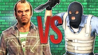 - СУПЕР РЭП БИТВА GTA VS CS ГТА Против КС