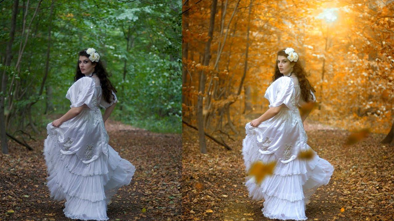 Autumn Color Effect Photoshop Tutorial Soft Light Look