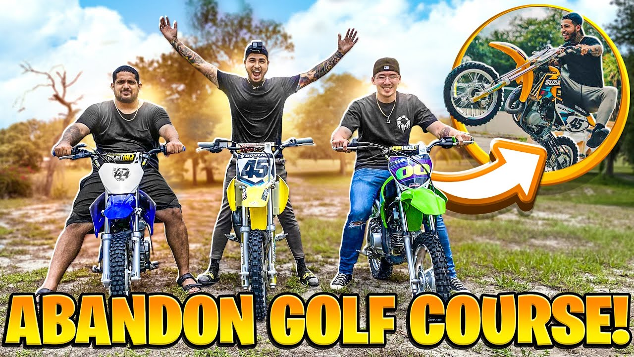 RIDING DIRTBIKES ON A ABANDONED GOLF COURSE ! | BRAAP VLOGS
