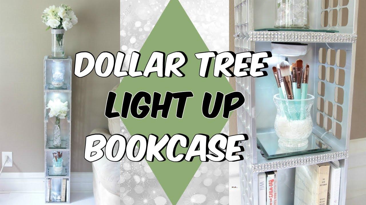 Dollar Tree Light Up Bookcase D I Y Tutorial