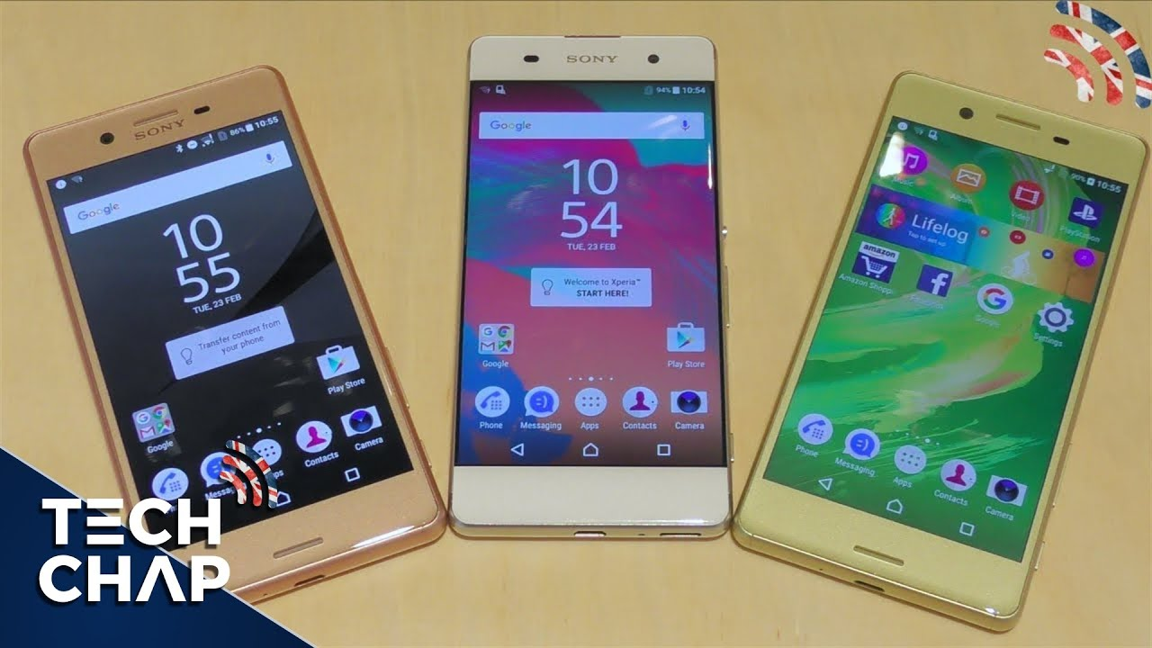sony xperia xp vs x vs xa hands on review youtube. Black Bedroom Furniture Sets. Home Design Ideas