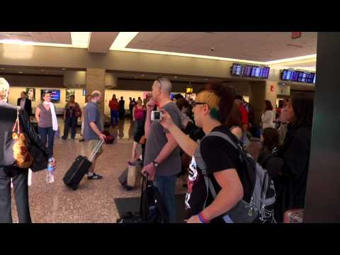 Opera Omaha Chorus pop up concert at Omaha's Eppley Airfield