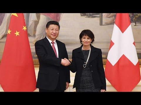 Chinese and Swiss presidents agree to oppose protectionism