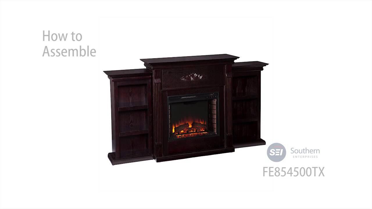 Fe8545 Tennyson Electric Fireplace W Bookcases Classic Espresso Assembly Sei Furniture