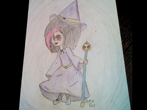 Рисую свою ОС в костюмчике ведьмы. Ну и вообщем то всё L Speedpaint