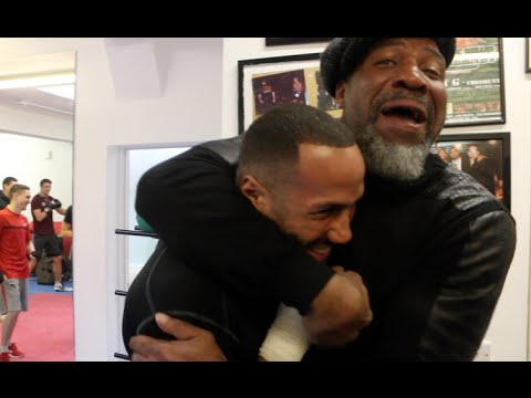 'LETS GO CHUNKY!' - WHEN SHANNON BRIGGS MET IBF WORLD CHAMPION JAMES DeGALE (WITH JIM McDONNELL)