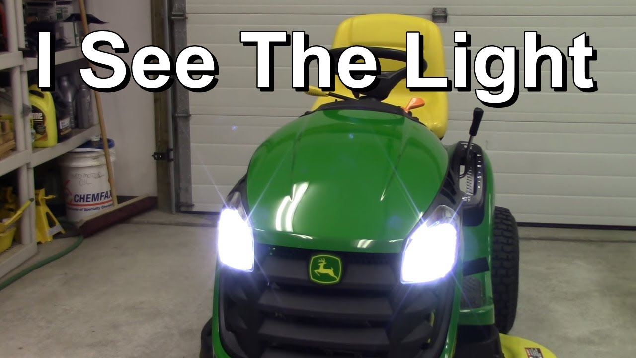 riding mower led headlamp conversion easy inexpensive john salt [ 1280 x 720 Pixel ]