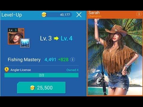 Fishing Strike - Lets Farm and Upgrade more Champion Master Anglers Mobile Gameplay