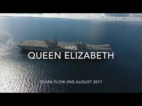 HMS QUEEN ELIZABETH IN  SCAPA FLOW