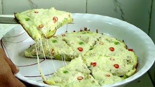 বাচ্চাদের টিফিন সকালের নাস্তার ডিম আলুর পিজা রেসিপি - Egg Chicken Salami Pizza Recipe/ Sokaler Nasta