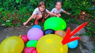 BALON cu 50 LITRI de APA! SPARGEM BALOANE URIASE cu APA! Provocare cu 14  Baloane cu Apa!