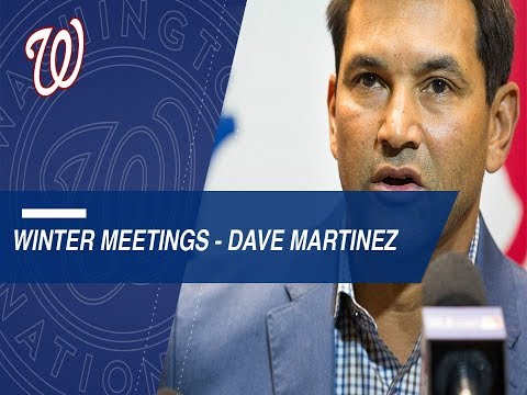 Dave Martinez discusses Nationals at Winter Meetings