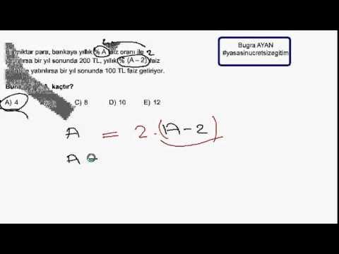 Pratik Matematik Faiz Problemi Nasıl çözülür ?