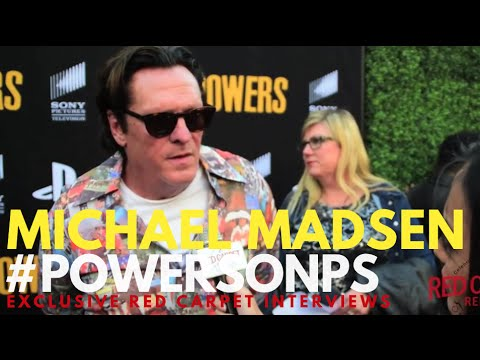 Michael Madsen interviewed at the POWERS the Series Season 2 Premiere Event #POWERSonPS