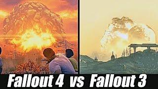 Сравнение графики Fallout 4 и Fallout 3!