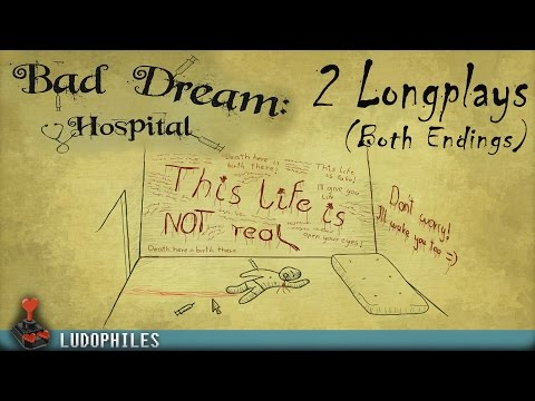 Bad Dream: Hospital - Bad & Good Ending Double Longplay / Playthrough / Walkthrough (no commentary)