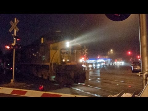 HD MBTA Commuter Rail & CSX Freight Meet