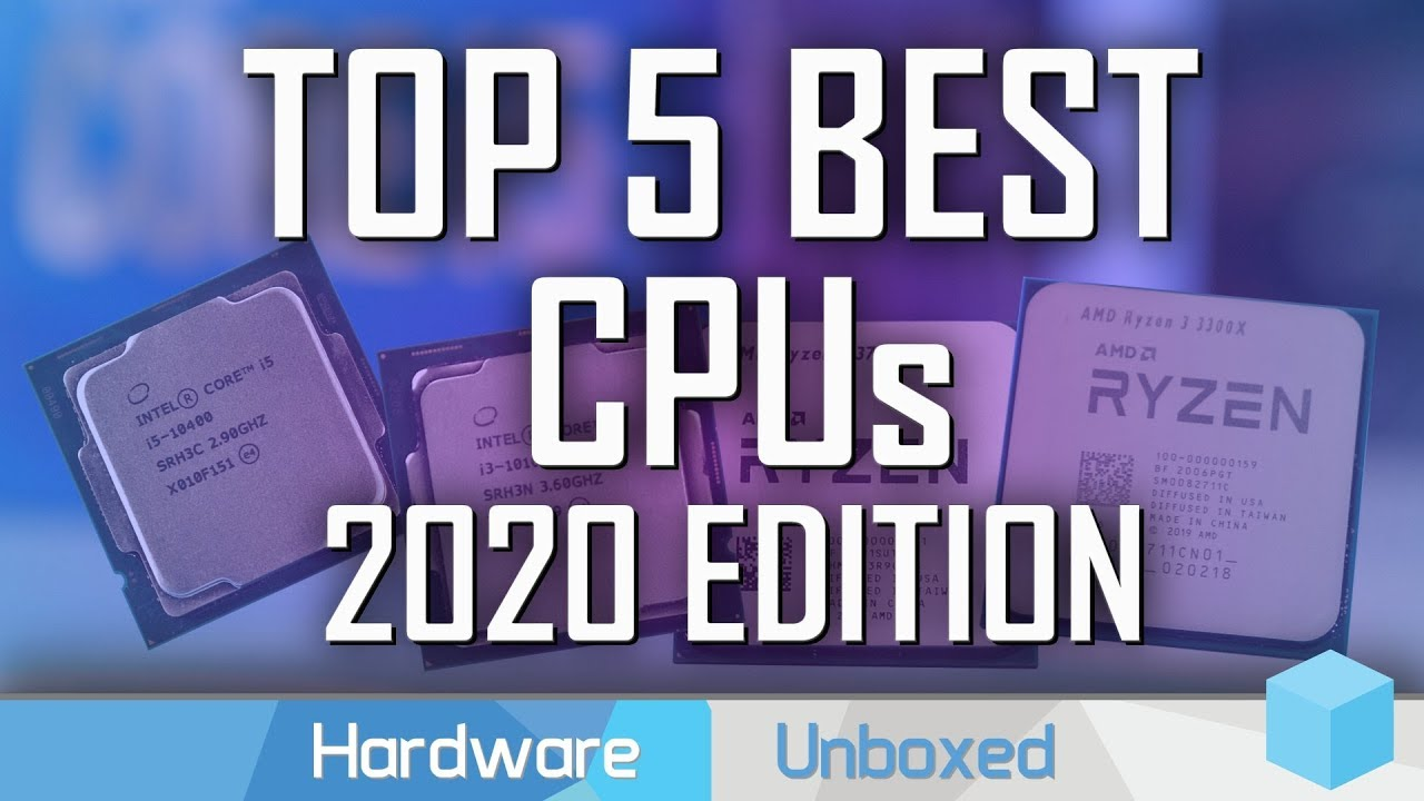 Top 5 Best Cpus 2020 Update Amd Ryzen Vs Intel Core Youtube