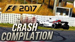 F1 2017 EPIC CRASH COMPILATION