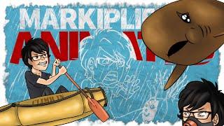 MARKIPLER, ANIMIERTEN CARTOON, der einen Tanz mit den Haien - (stranded deep)
