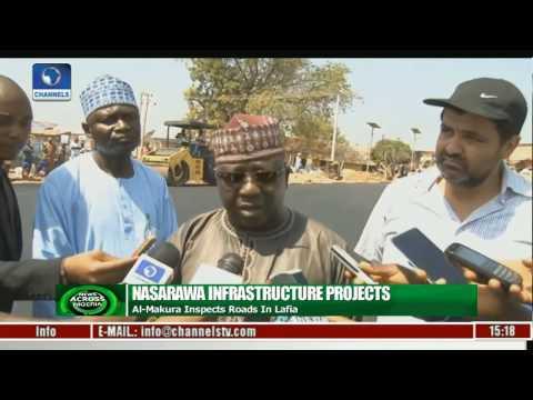 Al-Makura Inspects Road Projects In Lafia
