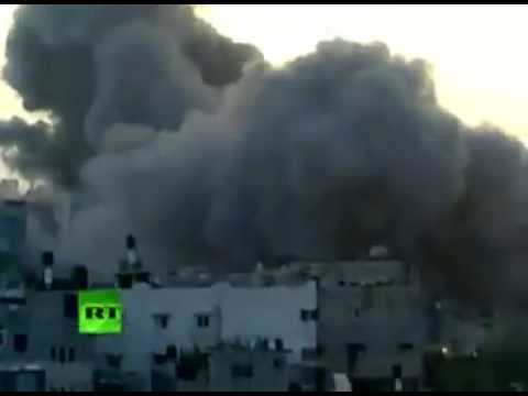 Massive Explosion As Israel Airstrikes Gaza