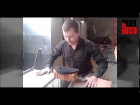 Russian Guy Crashing Bricks ft.  Santa Maria