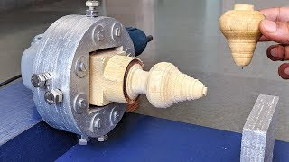 How to Make a Lathe Machine using Angle grinder at Home