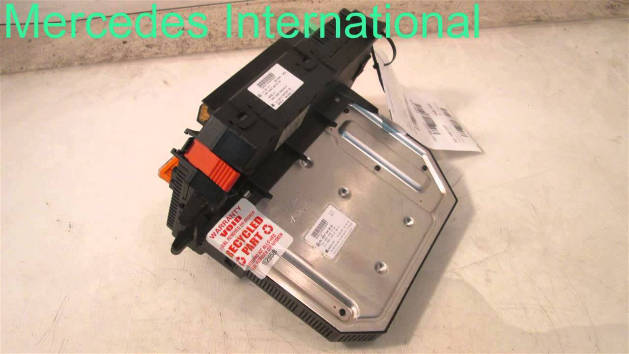 hight resolution of 2007 mercedes s550 sam module fuse 2215450001 mbiparts com used oem mercedes parts disman oem youtube