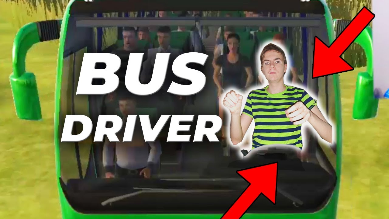 Trying to work as a bus driver in the simulator on the phone. (webcam)