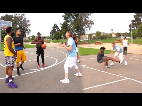 Me & Professor Pulled Up On Hood Basketball Trash Talkers & BROKE ANKLES!