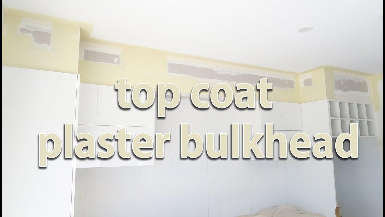 Kitchen Bulkhead Top Coat Plaster Kitchen Bulkhead Youtube