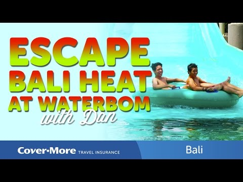 Escaping Bali heat at Waterbom | Cover-More Travel Insurance