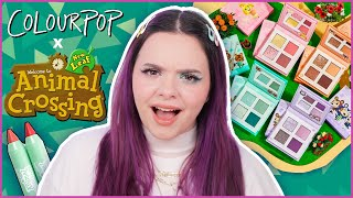 Animal Crossing macht MAKEUP?! 🧐 Colourpop x Animal Crossing Kollektion Review First Impressions
