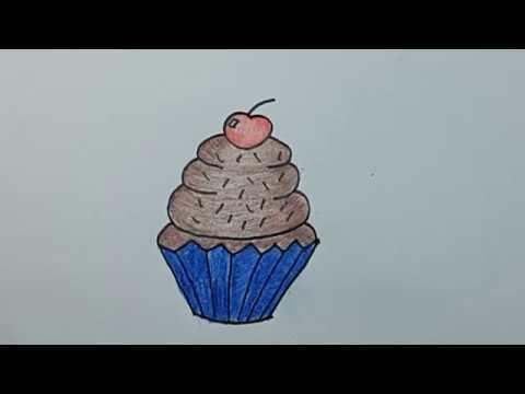 Gambar Gambar Funny Cupcake Coloring Page Pages Mewarnai