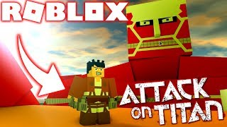 ROBLOX! -ATTACK ON THE TITANS DEFEATING COLOSSAL TITAN-INCREDIBLE SHINGEKI SIMULATOR IN KYOJIN