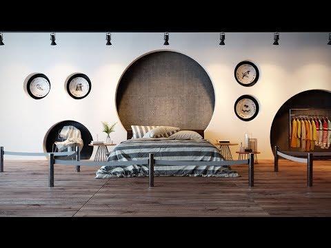 Unique Accent Wall Bedroom Design Ideas